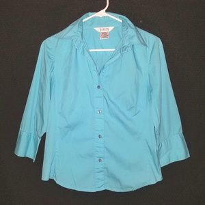 George Stretch 3/4 Sleeve Button down top